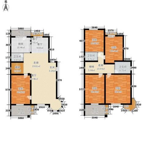 玲珑小筑5室1厅3卫1厨258.00㎡户型图