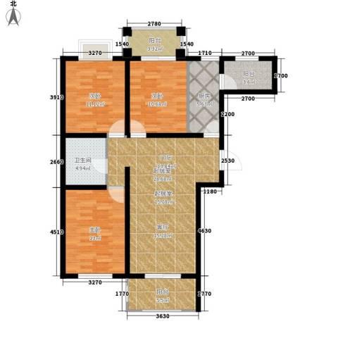 金榜名苑3室0厅1卫1厨124.00㎡户型图