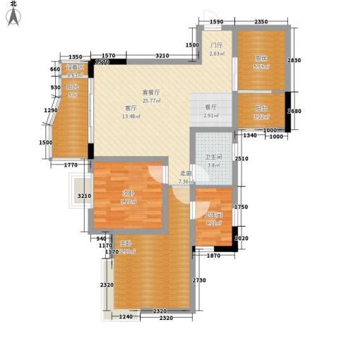 逸静丰豪2室1厅2卫1厨102.00㎡户型图