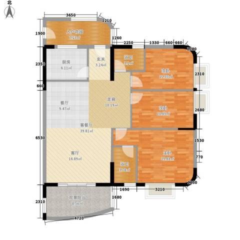 丽湾花园3室1厅0卫1厨110.00㎡户型图