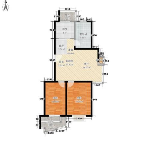 恒通花园2室0厅1卫1厨101.00㎡户型图