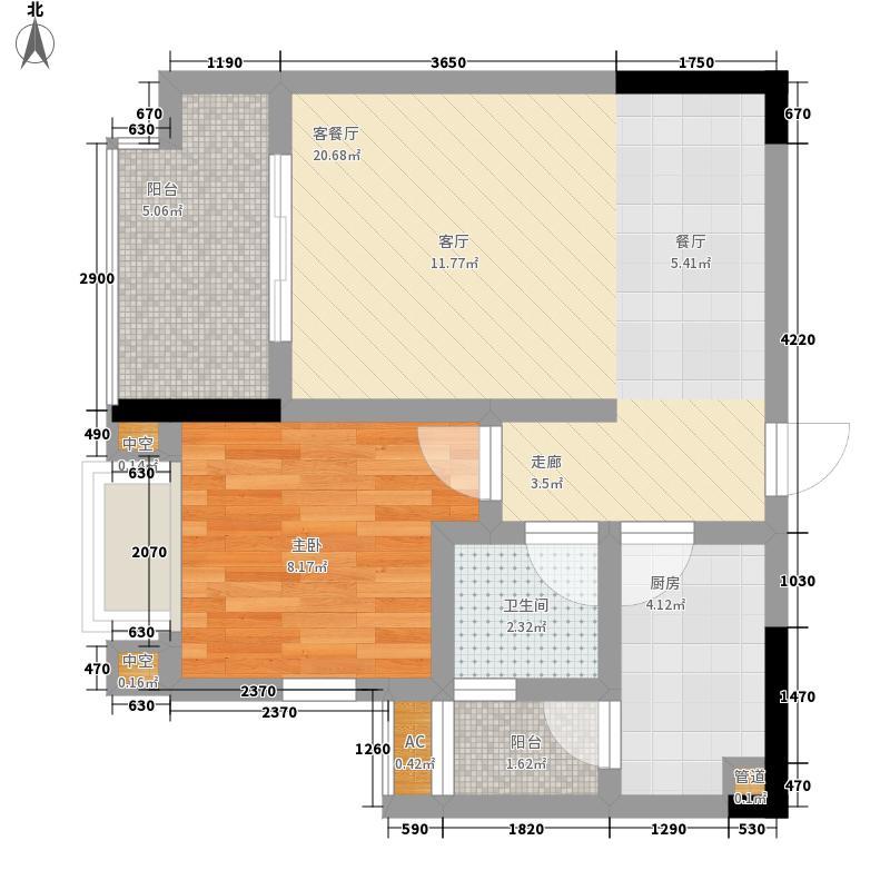 泽京Ta时代45.00㎡一期4号楼标准层A7户型