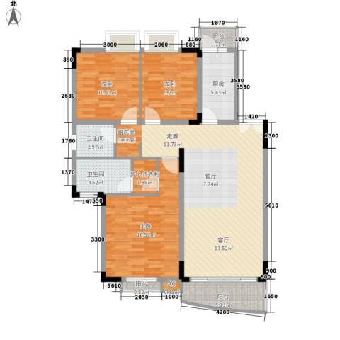 翠湖柳岸3室0厅2卫1厨134.00㎡户型图