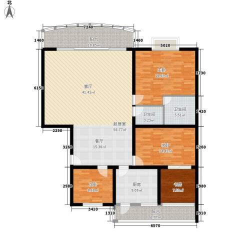 兴馨家园4室0厅2卫1厨160.00㎡户型图