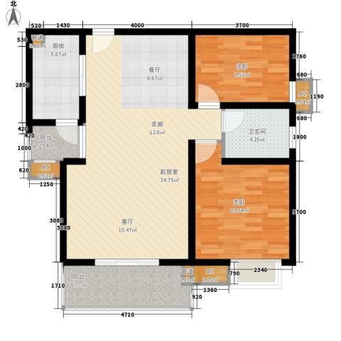 恒基雍景新城2室0厅1卫1厨85.00㎡户型图