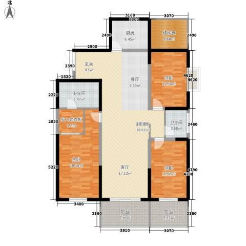 高新华府3室0厅2卫1厨143.00㎡户型图