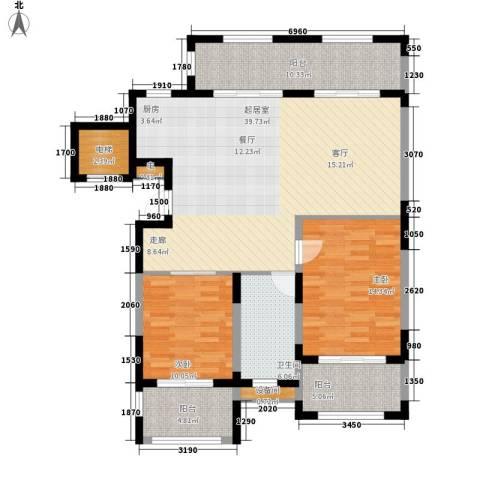金泰·南燕湾2室0厅1卫0厨107.00㎡户型图