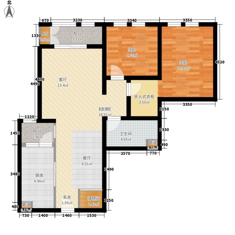 海河金湾公寓2-e(1)户型