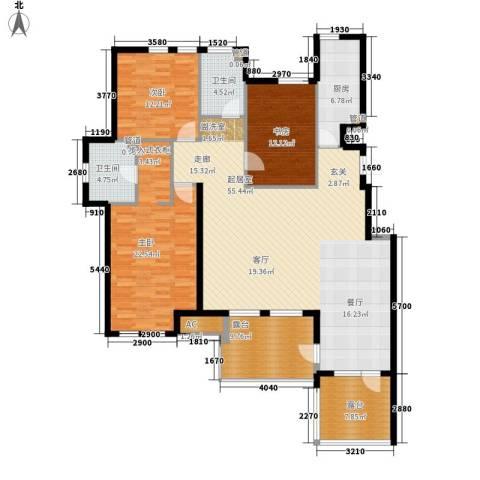 世茂茂悦府3室0厅2卫1厨152.83㎡户型图