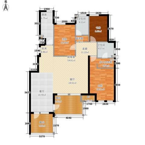 世茂茂悦府3室0厅2卫1厨143.26㎡户型图