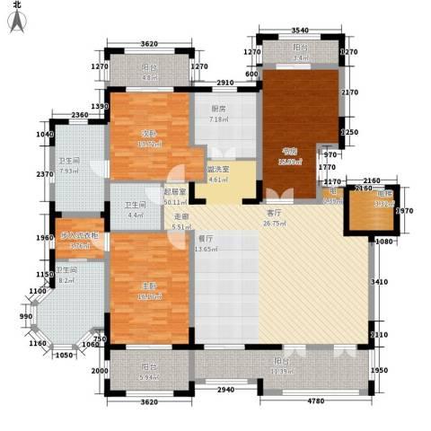 金泰·南燕湾3室0厅3卫1厨165.00㎡户型图
