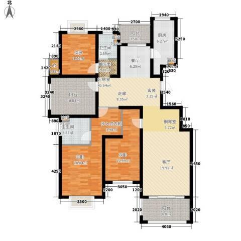 旭辉上河郡3室0厅2卫1厨140.00㎡户型图