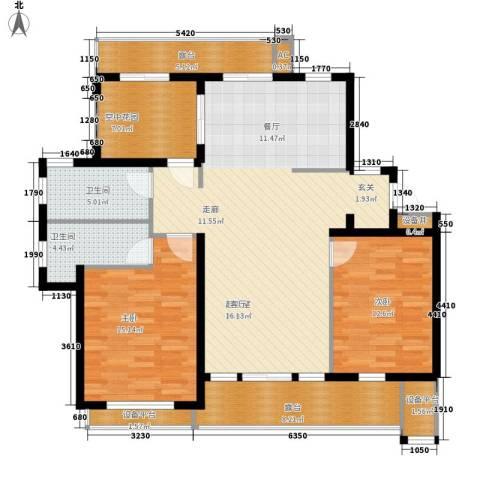 御景山庄紫金园2室0厅2卫0厨118.00㎡户型图