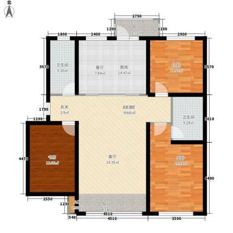 阳光嘉城三期3室0厅2卫1厨117.10㎡户型图