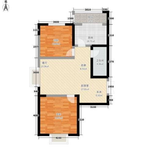 枫景湾家园2室0厅1卫1厨107.00㎡户型图