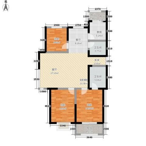 枫景湾家园3室0厅2卫0厨143.00㎡户型图