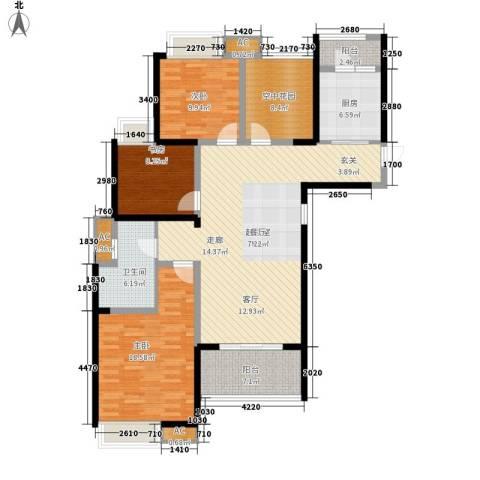 鑫苑鑫城3室0厅1卫1厨121.00㎡户型图