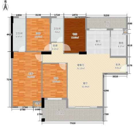 锦绣江南4室1厅2卫1厨220.00㎡户型图