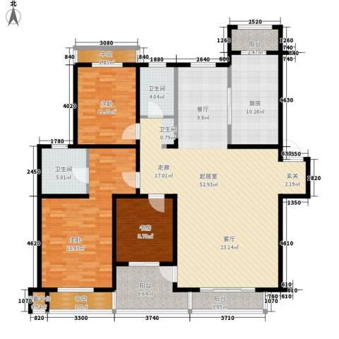 恒通花园3室0厅2卫1厨184.00㎡户型图