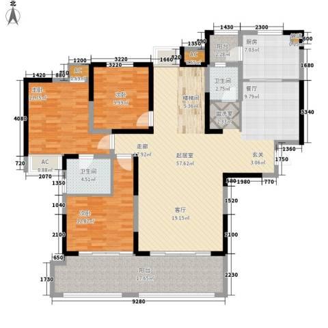 新里魏玛公馆3室0厅2卫1厨280.00㎡户型图