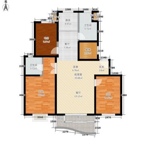 恒通花园3室0厅2卫1厨140.00㎡户型图