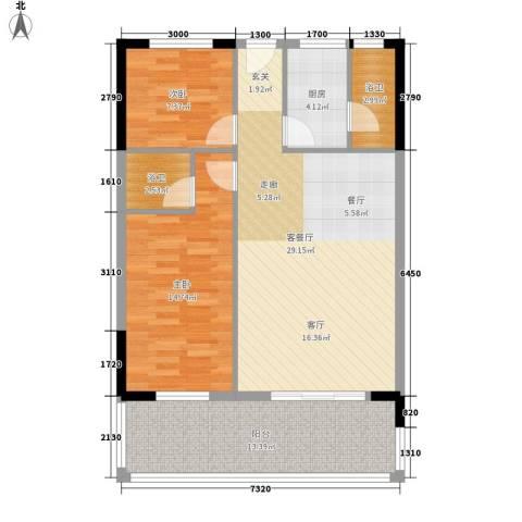 丽湾花园2室1厅0卫1厨89.00㎡户型图