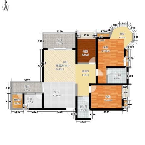 水天一色3室0厅2卫1厨115.00㎡户型图