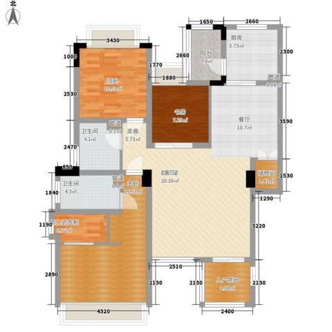 天雨一号3室0厅2卫1厨112.00㎡户型图
