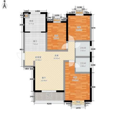 京海铭筑3室0厅2卫1厨133.00㎡户型图