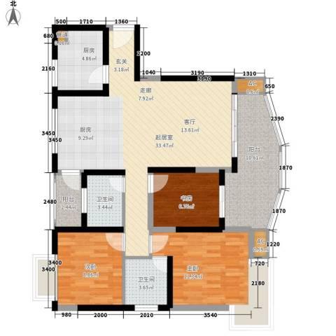 水天一色3室0厅2卫1厨100.00㎡户型图