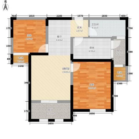 天保月湾2室0厅1卫1厨82.00㎡户型图