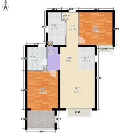 世茂茂悦府2室0厅1卫1厨97.10㎡户型图