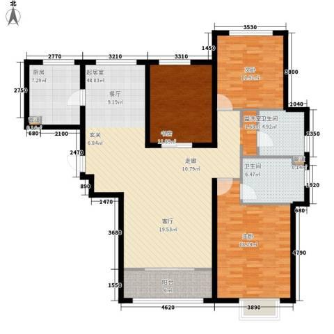 世茂茂悦府3室0厅2卫1厨128.97㎡户型图