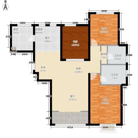 世茂茂悦府3室0厅2卫1厨137.00㎡户型图