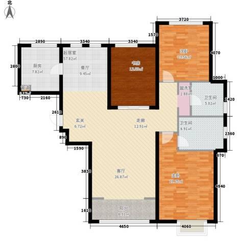 世茂茂悦府3室0厅2卫1厨137.66㎡户型图