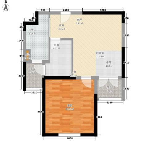 天保月湾1室0厅1卫1厨62.00㎡户型图