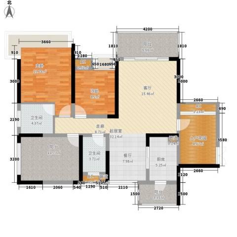保利心语花园别墅2室0厅2卫1厨116.05㎡户型图