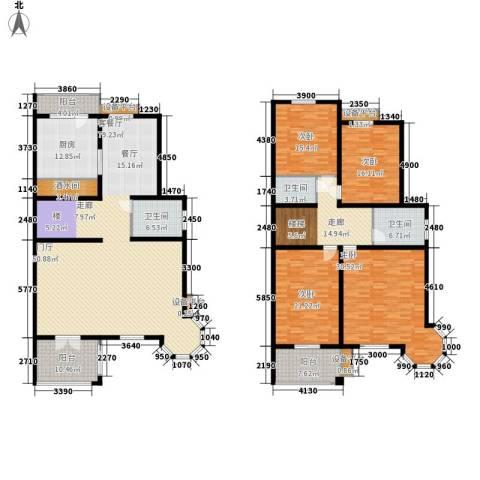 玲珑小筑4室1厅3卫1厨262.00㎡户型图