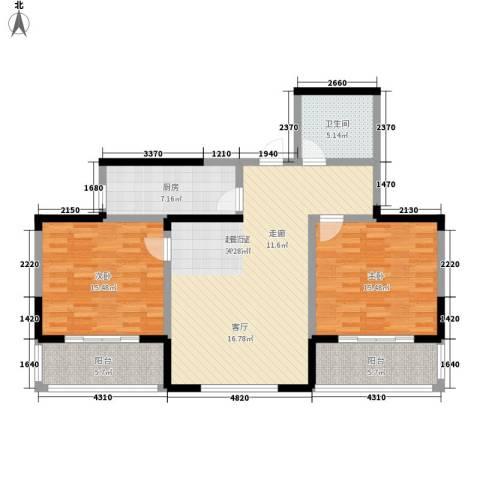 金色阳光花园2室0厅1卫1厨100.00㎡户型图