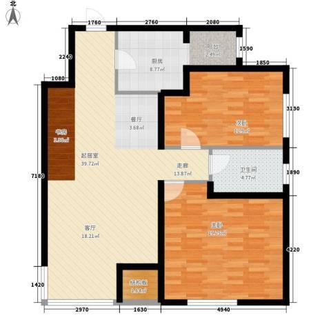 银园公寓2室0厅1卫1厨98.00㎡户型图