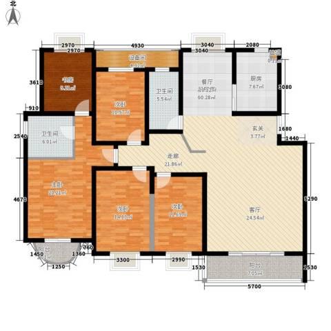 仁和雨花家园5室0厅2卫1厨187.00㎡户型图