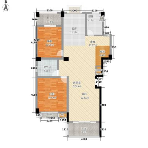 长房西城湾2室0厅1卫1厨146.00㎡户型图