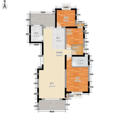 紫薇鑫园3室0厅2卫1厨149.00㎡户型图