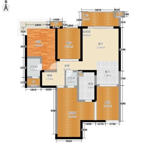 保利星座1室0厅2卫1厨135.00㎡户型图