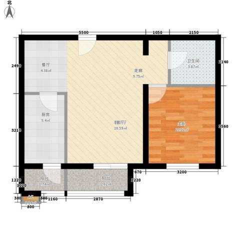 静和园1室1厅1卫1厨70.00㎡户型图