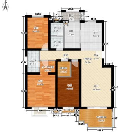 百旺家苑3室0厅3卫1厨101.00㎡户型图