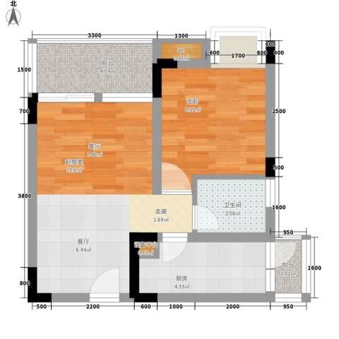 鑫腾水云间1室0厅1卫1厨54.00㎡户型图