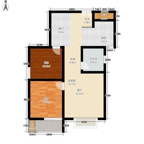 锦城2室0厅1卫0厨86.00㎡户型图
