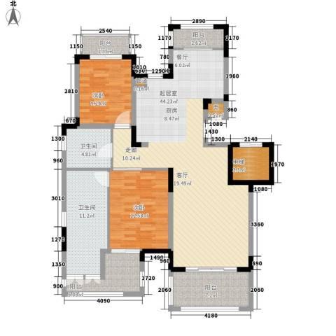 金泰·南燕湾2室0厅2卫0厨113.00㎡户型图