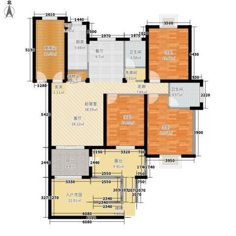 金色地中海3室0厅2卫1厨162.00㎡户型图